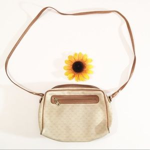 Brown/tan leather Gucci crossbody purse/bag